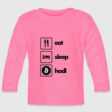 Eat Sleep Hödl Bitcoin - Langærmet babyshirt