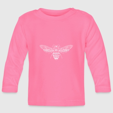 artfully designed white bee - Baby Long Sleeve T-Shirt