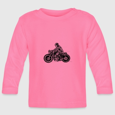 Cafe Racer Motorcycle 04_black - Baby Long Sleeve T-Shirt
