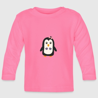 Penguin with bikini - Baby Long Sleeve T-Shirt
