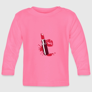 Lipstick with kissing lips - Baby Long Sleeve T-Shirt