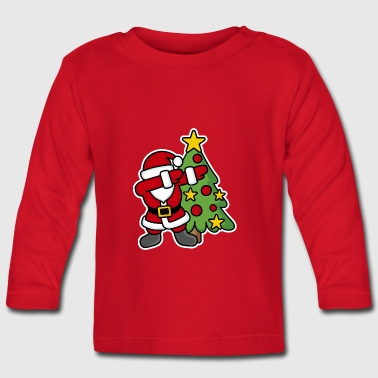 Dabbin' around the Christmas tree - T-shirt manches longues Bébé