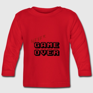 Never game over transparent - Baby Long Sleeve T-Shirt