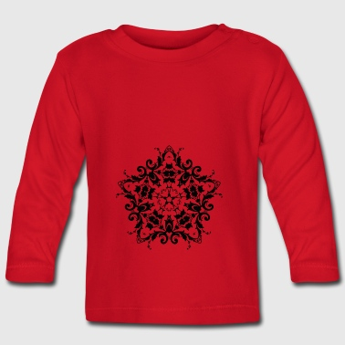 Ornament - Damask - Baby Long Sleeve T-Shirt