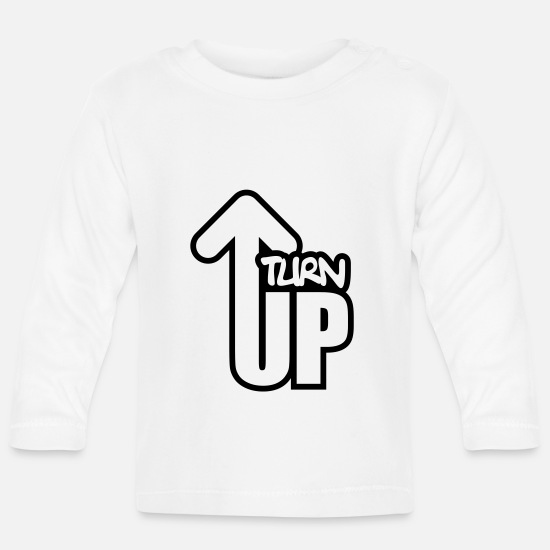 Miscellaneous Baby Clothes - Turn Up - Baby Longsleeve Shirt white