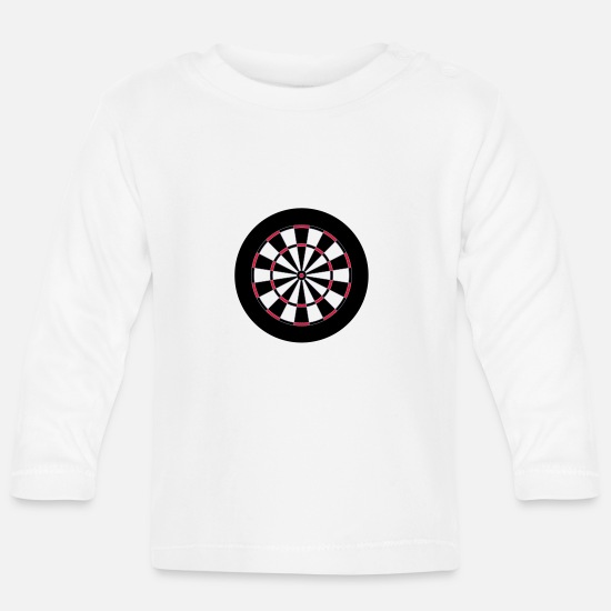 Play Baby Clothes - Darts target - Baby Longsleeve Shirt white