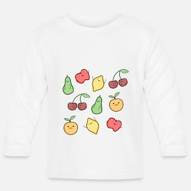 Cute Happy fruit - Baby Longsleeve Shirt