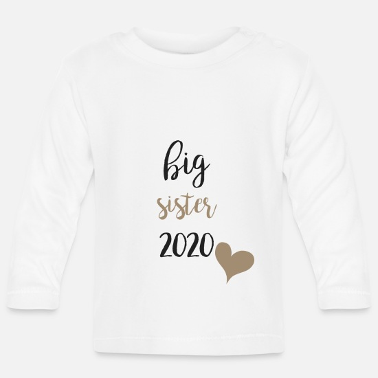 Big Baby Clothes - Big Sister 2020 - Baby Longsleeve Shirt white