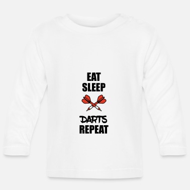 Bar Pub Darts Darts Darts Sayings Pub Bar Sports - Baby Long Sleeve T-Shirt