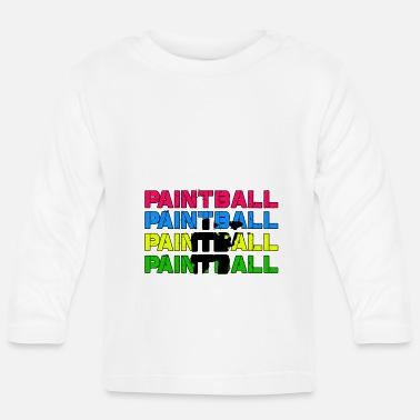 Paintball Paintball Paintball Paintball Paintball - Baby longsleeve