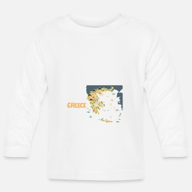 Map Greece Map Map, greece - Baby Longsleeve Shirt