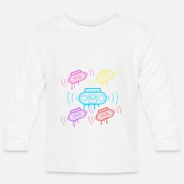 Tape Here's A Great 80's design A Colorful 80's Design - Baby Longsleeve Shirt