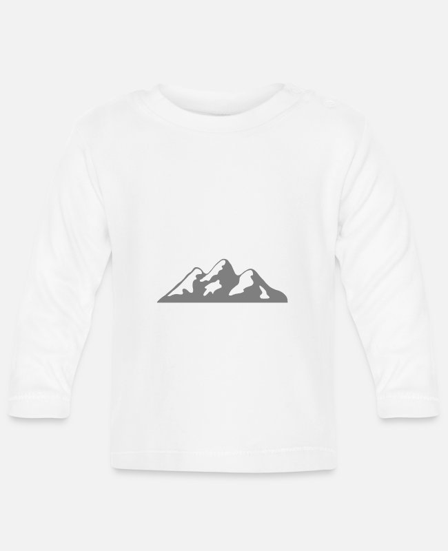 Sport Climbing Baby Long-Sleeved Shirts - Mountain landscape mountains mountain range hiking mountaineering - Baby Longsleeve Shirt white