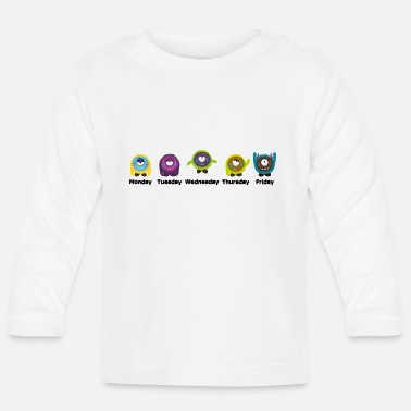 Days Of The Week Days of the week Monster - Baby Long Sleeve T-Shirt