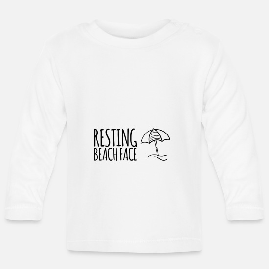 Travel Bug Baby Clothes - resting - Baby Longsleeve Shirt white
