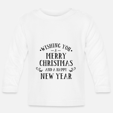Rentier Wishing You A Merry Christmas And Geschenk Weihnac - Baby Langarmshirt