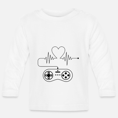 Video Heartbeat gamers - Baby Longsleeve Shirt