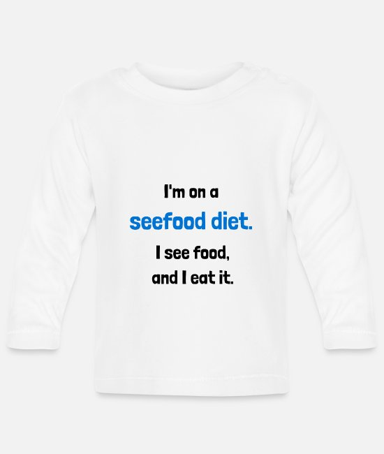Friend Baby Long Sleeve Shirts - Seefood diet - Baby Longsleeve Shirt white