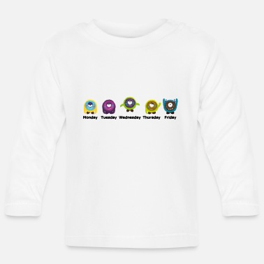 Day Of The Week Days of the week Monster - Baby Longsleeve Shirt