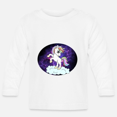 Space Unicorn space space - Baby Longsleeve Shirt