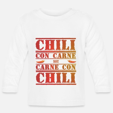 Pepper chili con carne not carne con chili - Baby Longsleeve Shirt