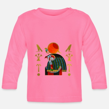 Colorful Egyptian Horus Ornament - Baby Longsleeve Shirt
