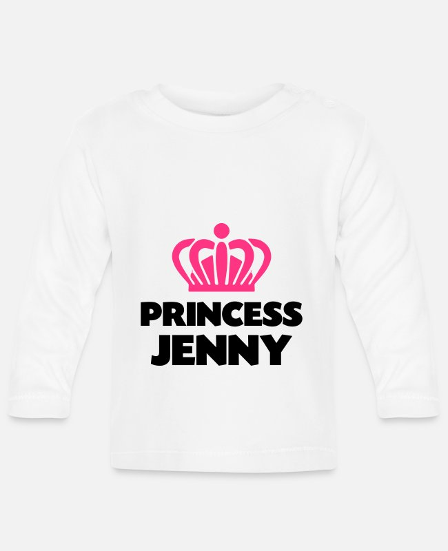 Crown Baby Long-Sleeved Shirts - Princess jenny name thing crown - Baby Longsleeve Shirt white