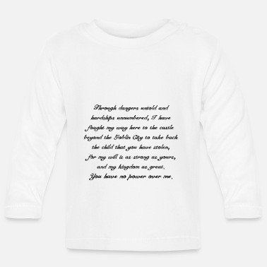 Jennifer Connelly Labyrinth - Baby Longsleeve Shirt