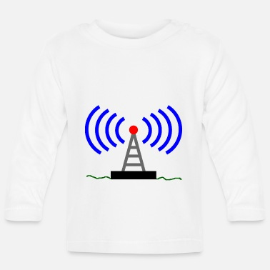 Radio Tower Radio radio tower waves communication - Baby Longsleeve Shirt