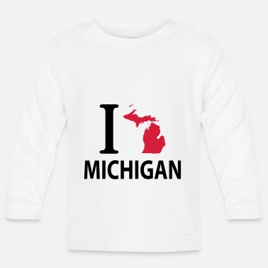 Michigan I love Michigan - Långärmad baby T-shirt