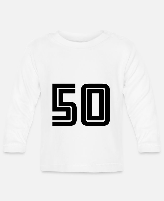 Fußball Baby Long-Sleeved Shirts - 50 - Baby Longsleeve Shirt white