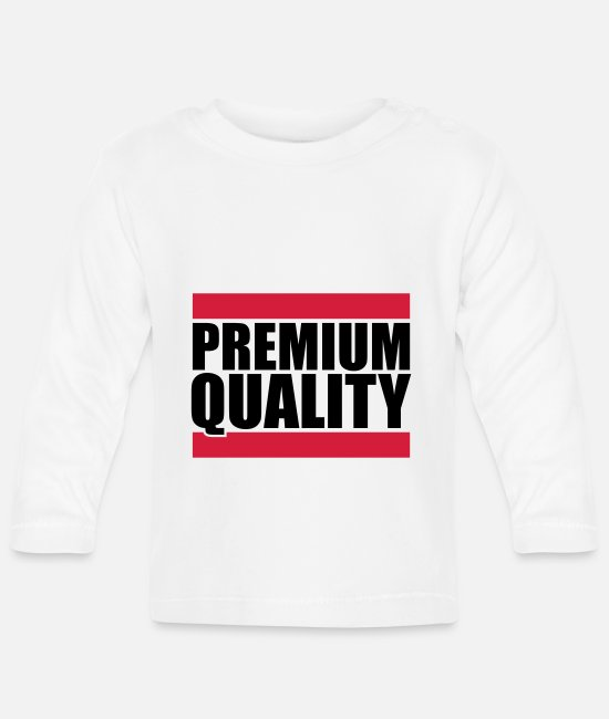High Baby Long-Sleeved Shirts - Premium Quality - Baby Longsleeve Shirt white