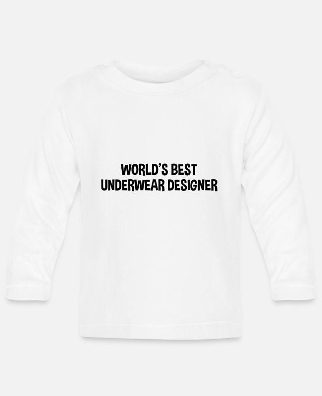 Designer Baby Long-Sleeved Shirts - worlds best underwear designer - Baby Longsleeve Shirt white