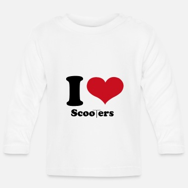 Scooterfahrer I Love Scooters - Baby Langarmshirt