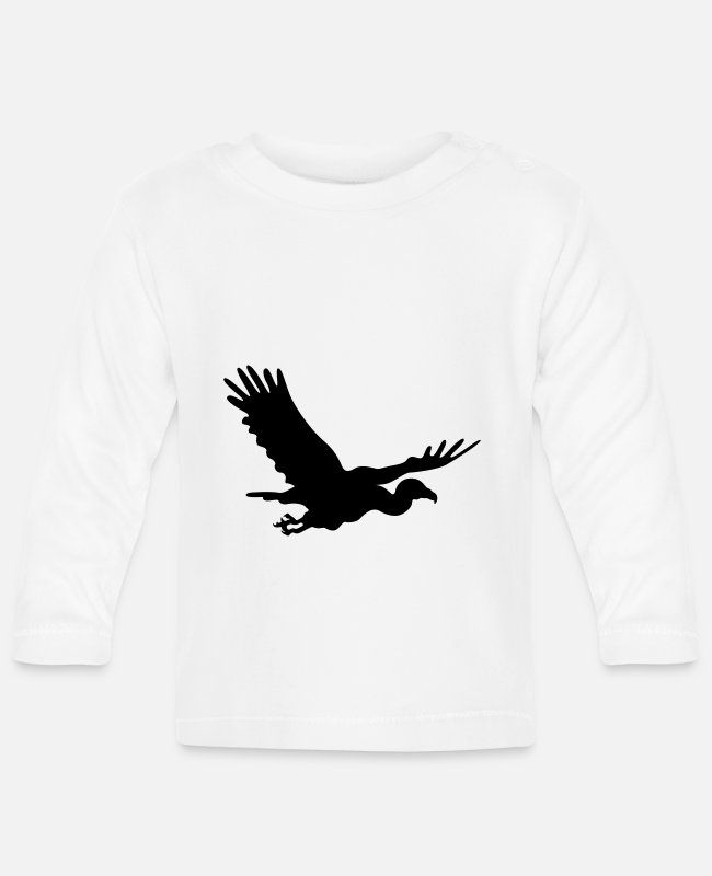 Animals Baby Long-Sleeved Shirts - vulture - Baby Longsleeve Shirt white