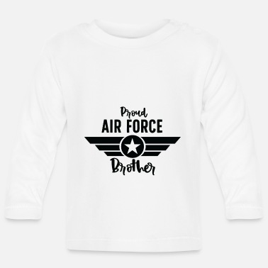 Military Proud Air Force Brother black - Baby Longsleeve Shirt