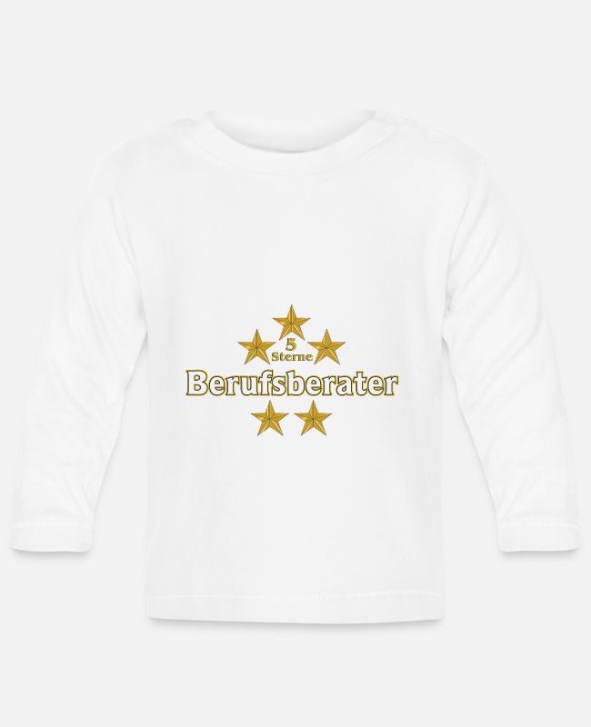 Office Baby Long-Sleeved Shirts - 5 star career counselors - Baby Longsleeve Shirt white