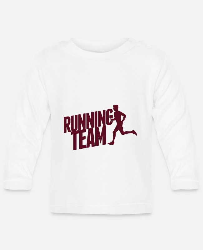 Speed Baby Long-Sleeved Shirts - Running Team - Baby Longsleeve Shirt white