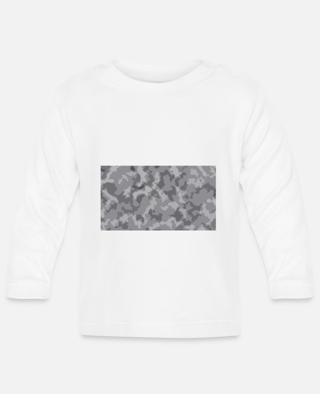 Snow Baby Long-Sleeved Shirts - Snow Camoflage Digitalized - Baby Longsleeve Shirt white