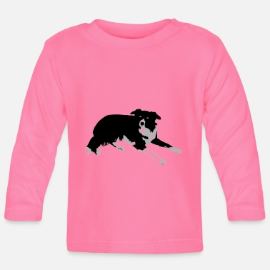 Collie Border collie - Camiseta de manga larga bebé