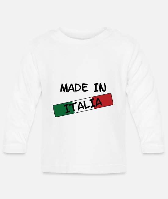 Turin Baby Long-Sleeved Shirts - Made in ITALY! - Baby Longsleeve Shirt white