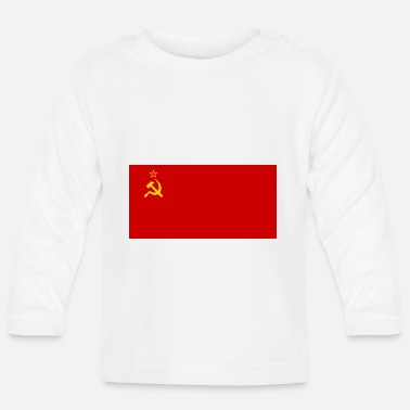 Sowjetunion Flagge der Sowjetunion - Baby Langarmshirt