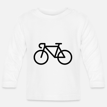 Pictograph Racing Bicycle / Bike (Icon / Pictogram) - Baby Longsleeve Shirt
