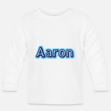 Name Aaron name first name - Baby Longsleeve Shirt