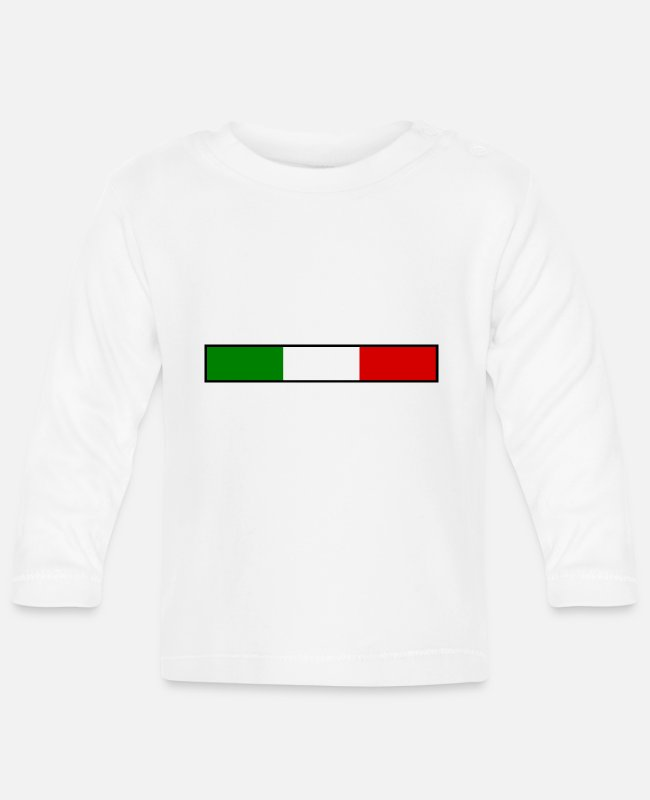 Sicily Baby Long-Sleeved Shirts - Italy flag - Baby Longsleeve Shirt white