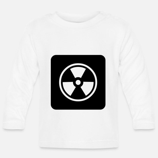Icon Baby Clothes - Caution: Radioactive - Baby Longsleeve Shirt white