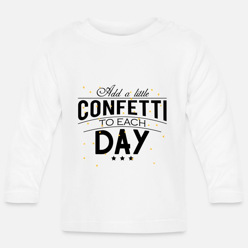Confetti  Babykleding - Add a little Confetti to each day - Baby longsleeve wit