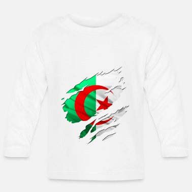 Country Flag Football Sport And Arab Art Jesus africa algéria country - Baby Longsleeve Shirt