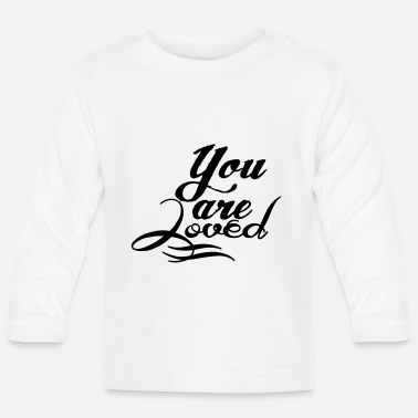 Pregnancy Announcement You are loved - Långärmad T-shirt baby