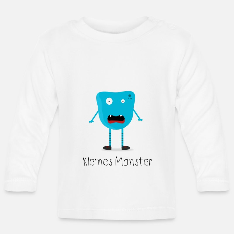 69c43d3f9 Little Monster Kids Shirt Young Funny Girl Baby Longsleeve Shirt ...